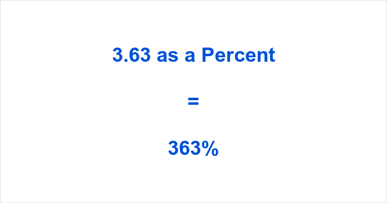 2506025821bd 3.63 as a Percent – What is 3.63 as a Percentage?