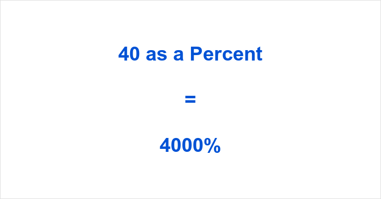 Percent What Is 40 As A Percentage