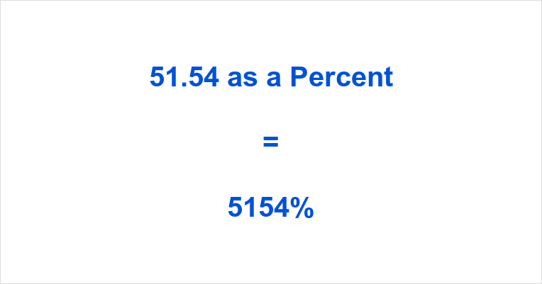 51.54 as a Percent