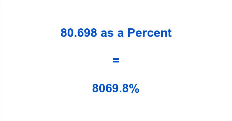 80.698 as a Percent