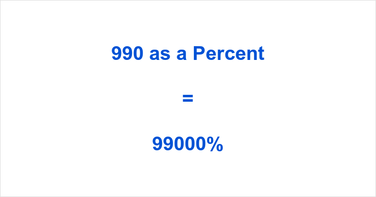 990 as a Percent