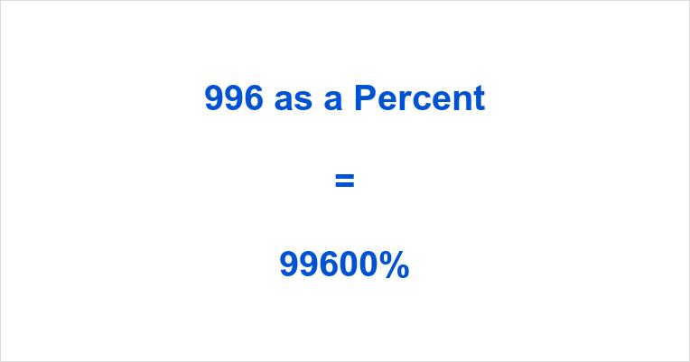 996 as a Percent