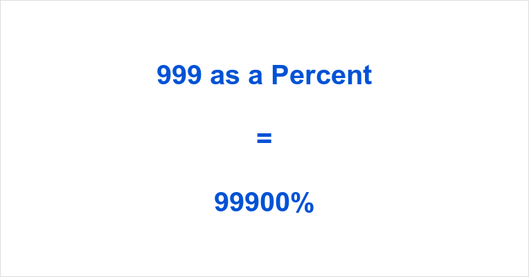 999 as a Percent